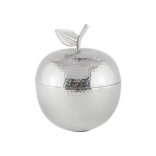 Sterling Industries Pippin Nickel Decorative Apple Container