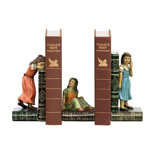 Sterling Industries Set Child Games Bookends