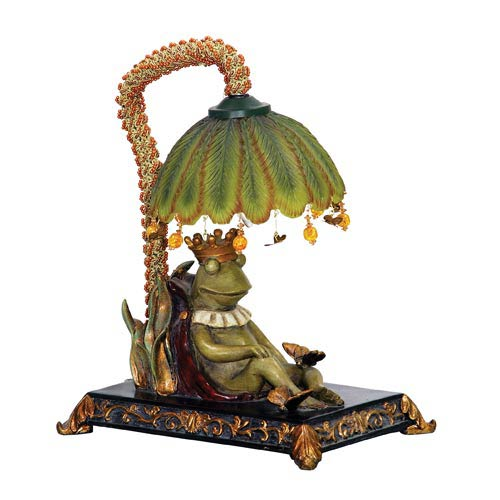 Sleeping King Frog Desk Lamp