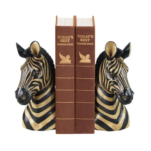 Pair Zebra Bookends