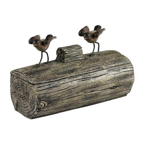Sterling Industries Altura Cedar Pond Bird Log Box