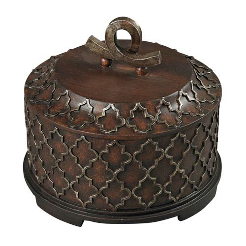 Moorish Bronze 10-Inch Carved Box