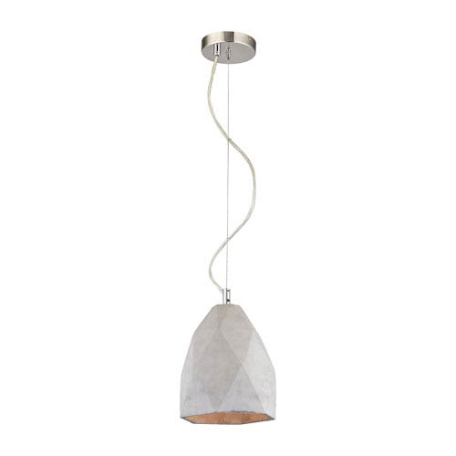 Sterling Industries Tsar Polished Concrete One-Light Pendant