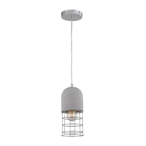 Wardenclyffe Polished Concrete and Polished Nickel Mini Pendant