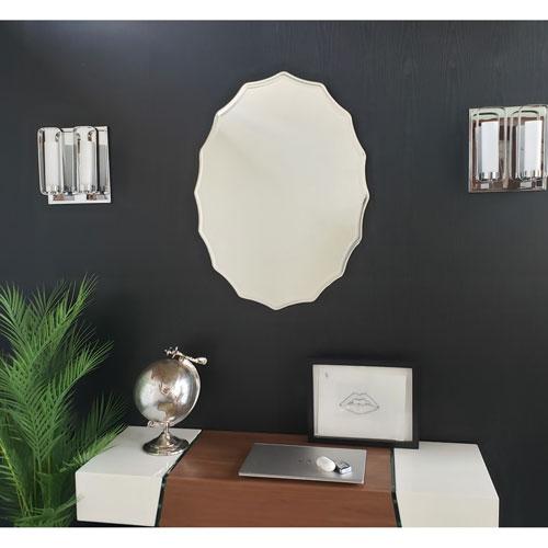 Oval Scalloped Bathroom Mirror