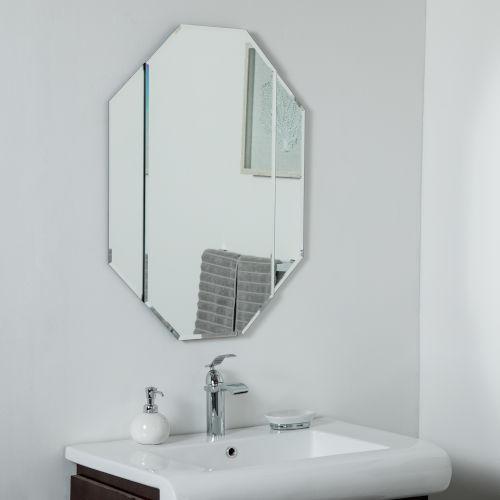 Beveled Edge Frameless Bathroom Mirror