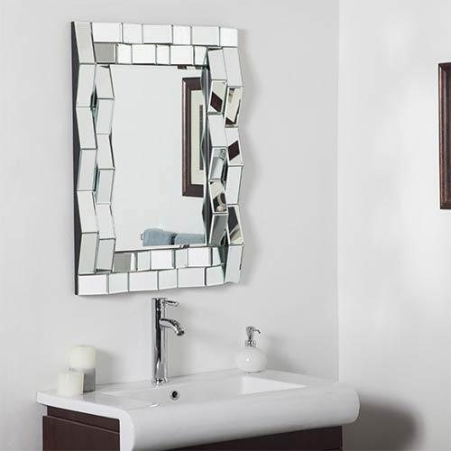 Decor Wonderland Iso Modern Rectangular Beveled Bathroom Mirror
