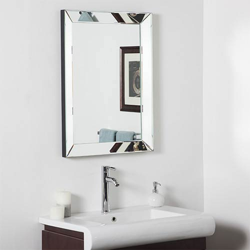 Mirror Rectangular Beveled Framed Mirror