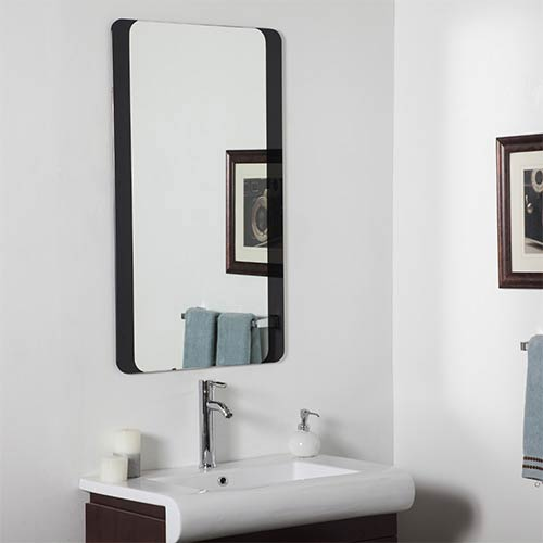 Rectangular Large Frameless Bathroom Mirror