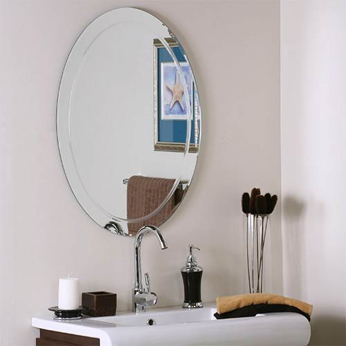 Decor Wonderland Oval Frameless Mirror with Scallop Edges