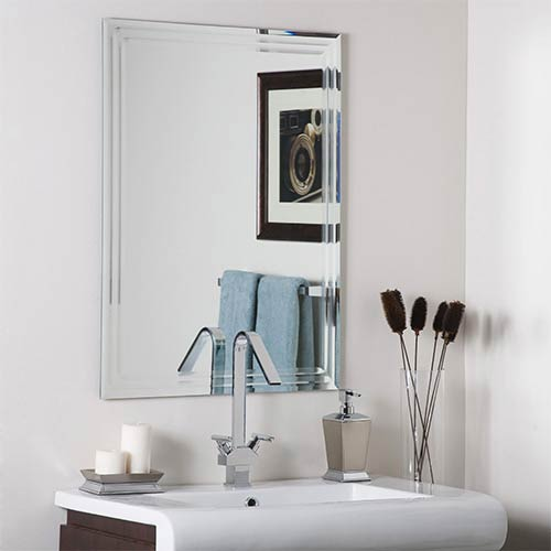 Frameless Tri Bevel Wall Mirror