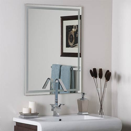 Houston Modern Frameless Etch Mirror