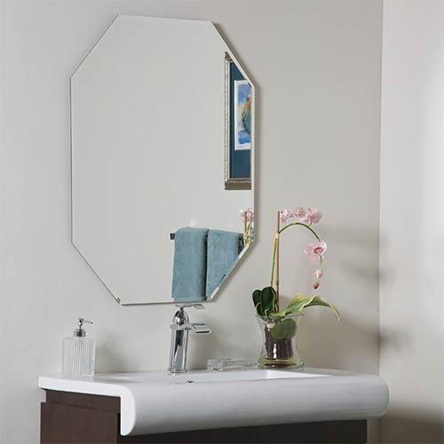 Modern Octagon Frameless Beveled Mirror