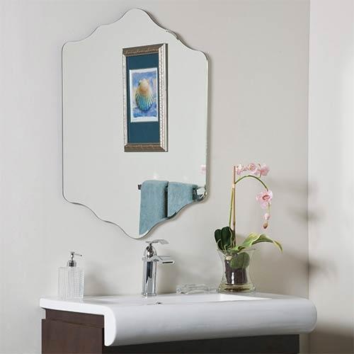 Decor Wonderland Vandam Novelty Beveled Frameless Bathroom Mirror