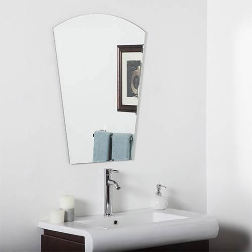 bathroom mirror design framed decor wonderland paris modern crowned top beveled frameless bathroom mirror mirrors bellacor