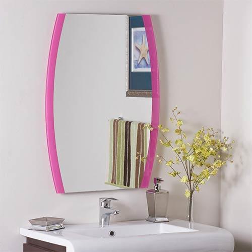 Decor Wonderland Paula's Pink Frameless Mirror