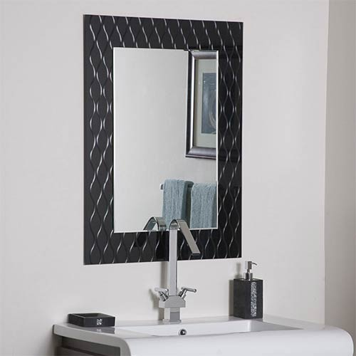 Decor Wonderland Strands Modern Frameless Mirror
