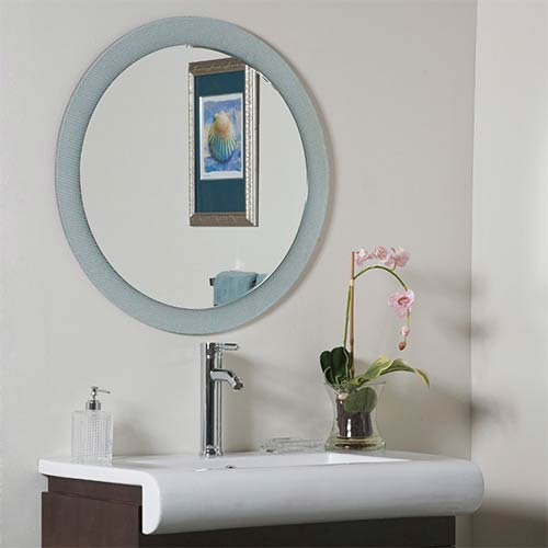 Zoe Round Beveled Wall Mirror