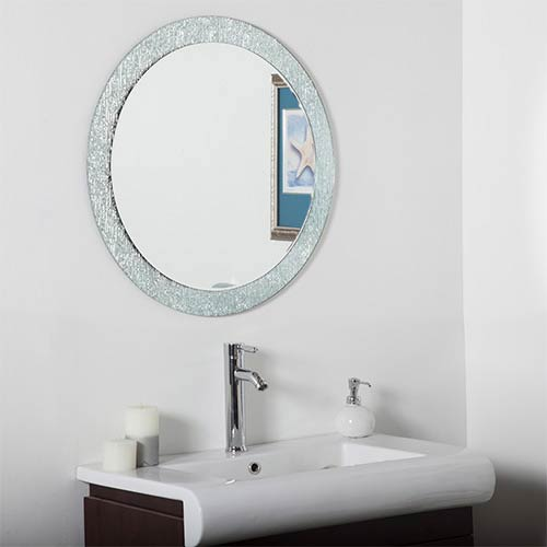 Molten Round Beveled Frameless Bathroom Mirror