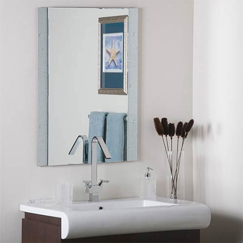 Decor Wonderland Starlight Rectangular Beveled Frameless Wall Mirror