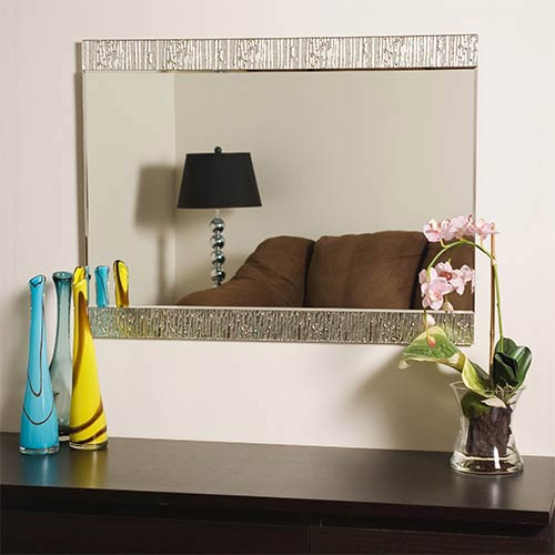Decor Wonderland Molten Frameless Mirror Ssm5039 Bellacor