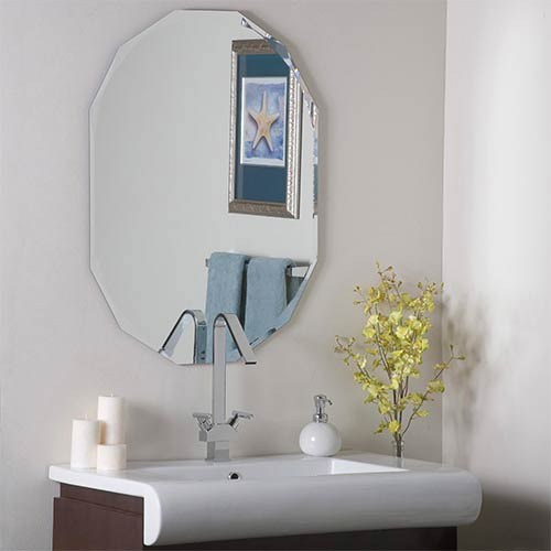 Astounding Decor Wonderland Diamond Shaped Frameless Wall Mirror Download Free Architecture Designs Osuribritishbridgeorg