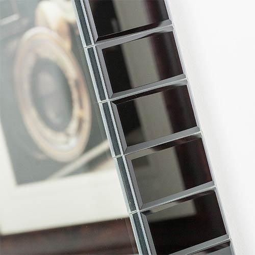 Decor Wonderland Black Rectangular Beveled Framed Bathroom ...