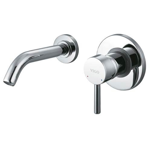Vigo Single Lever Wall Mount Chrome Faucet