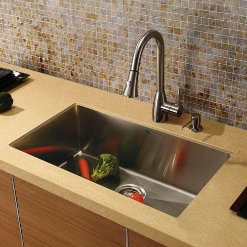 Undermount Kitchen Sink With Faucet on farmhouse kitchen sink faucet, wall mount kitchen sink faucet, single kitchen sink faucet,