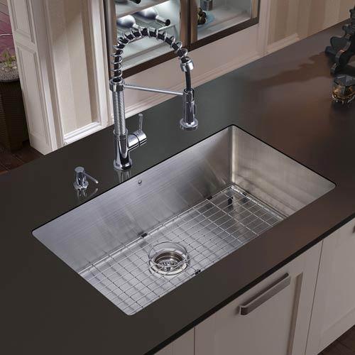 Vigo All In One 30 Inch Mercer Stainless Steel Undermount Kitchen ...