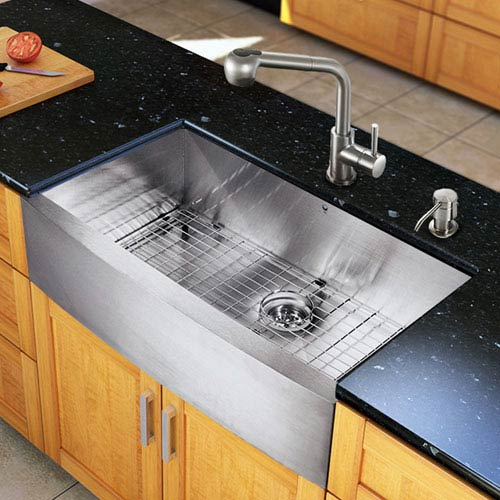 All-In-One 36-inch Camden Stainless Steel Farmhouse Kitchen Sink Set With  Avondale Faucet, Grid, Strainer And Soap Dispenser