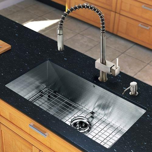 30 inch undermount kitchen sink stainless steel bellacor item 840720 image vigo all in one 30 inch ludlow stainless steel undermount kitchen