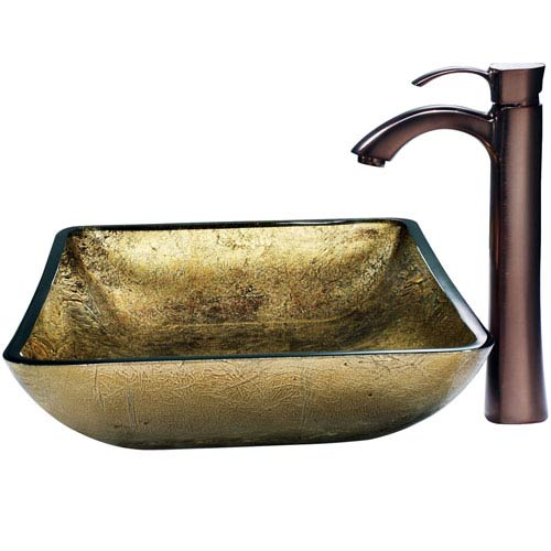 Vigo Rectangular Copper Vessel Sink And Bronze Faucet Vgt157 Bellacor