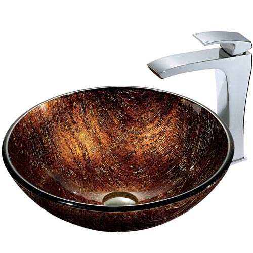 Kenyan Twilight Sink Multicolor with Chrome Faucet
