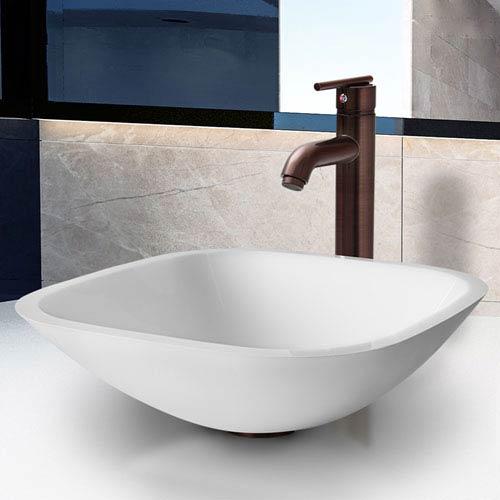 Marie Phoenix Stone Vessel Bathroom Sink Set With Seville Vessel Faucet In Oil Rubbed Bronze