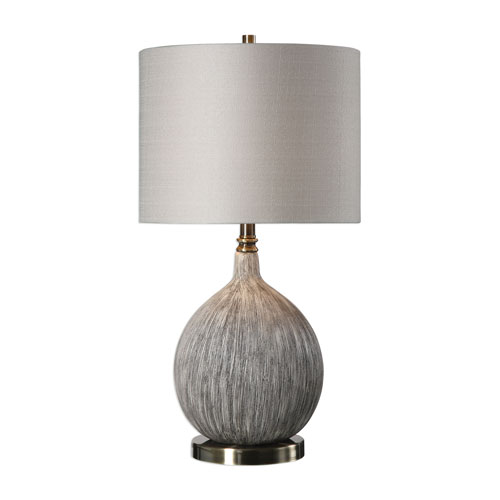 Hedera Textured Ivory Table Lamp