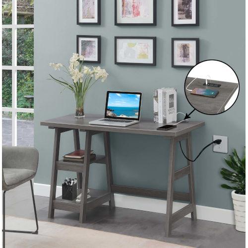 Designs2Go Charcoal Gray Office Desk