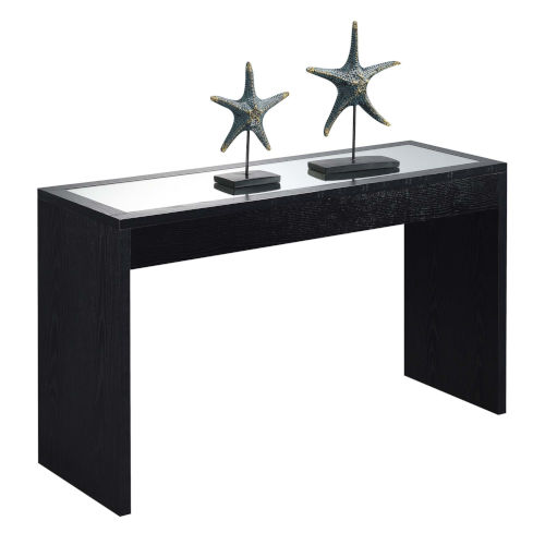 Northfield Black Honeycomb Particle Board Mirrored Console Table