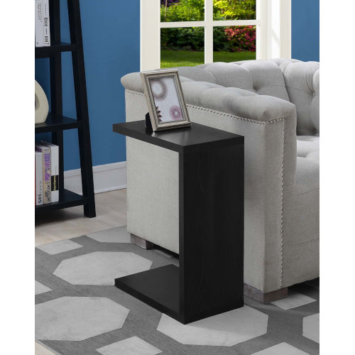 Northfield Black 16-Inch C Shaped End Table