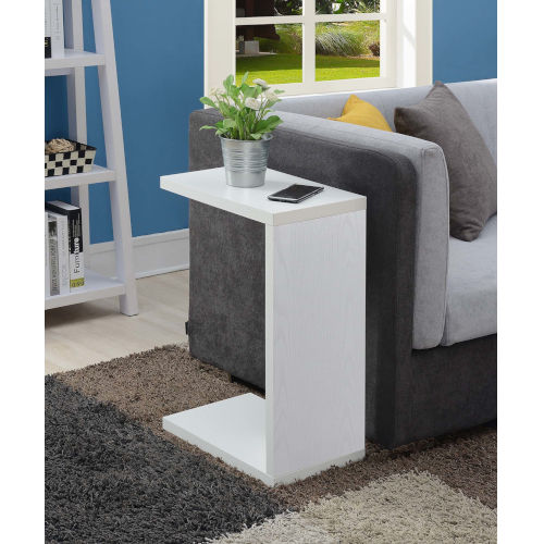 Northfield White 16-Inch C Shaped End Table