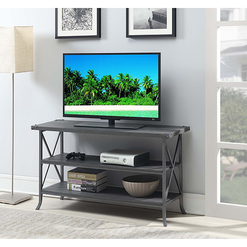 Brookline Charcoal Gray TV Stand with Gray Frame