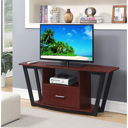 Convenience Concepts Graystone Cherry 60 Inch Tv Stand With Black