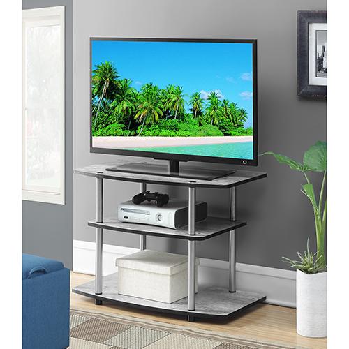 Designs2Go Faux Birch Three Tier TV Stand