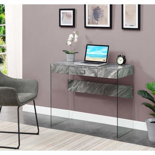 Soho Gray Marble Office Desk