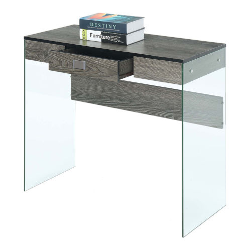SoHo Weathered Gray Glass 36-Inch Desk