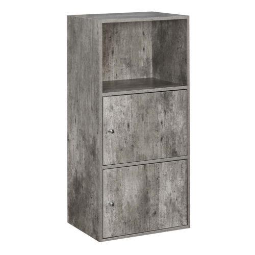 Faux Birch 35-Inch Xtra Storage Two Door Cabinet