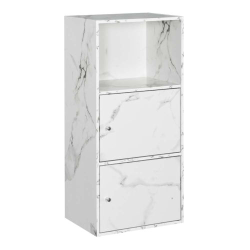 White Marble 35-Inch Xtra Storage Two Door Cabinet