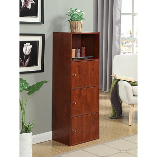 XTRA-Storage Cherry Three Door Cabinet