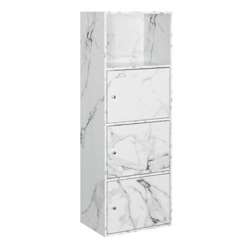 White Marble 47-Inch Xtra Storage Three Door Cabinet