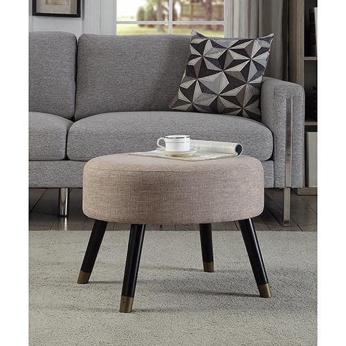 Convenience Concepts Designs4Comfort Tan Mid Century Ottoman Stool